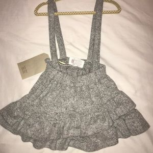 Suspenders skirt - grey